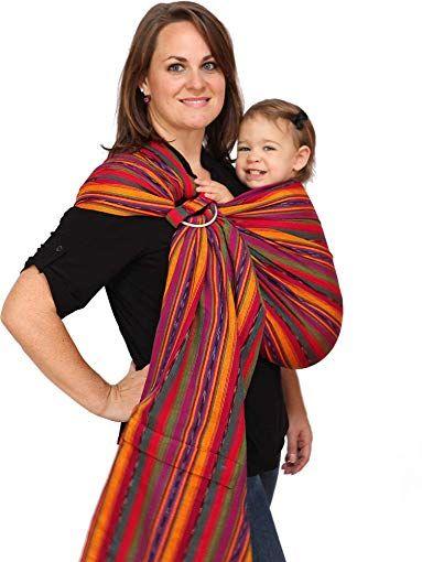 Maya Wrap Comfortfit Ring Sling Baby Carrier Bright Stripes Medium Review Ring Sling Baby Carrier Bright Stripes Maya Wrap