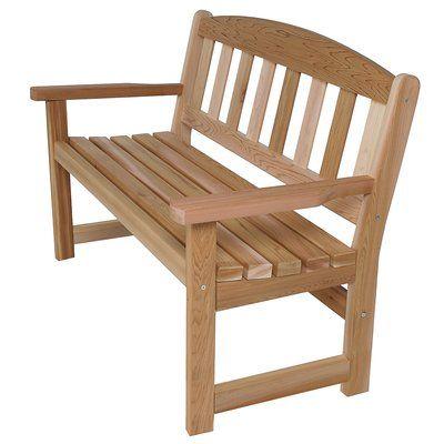 Union Rustic Western Red Cedar Wayfair Cedar Bench Garden Bench Wooden Garden Benches