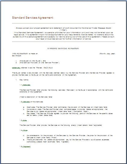 Free Independent Contractor Agreement Blank Template Definition