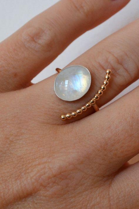 Moonstone Statement Ring