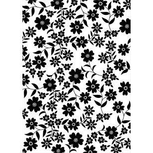 Papel en color y estampado 00075_c1,Piezas,Scrapbook,Asia / Oceanía,Japón,Negro,Flor,Cartulina,Blanco y negro