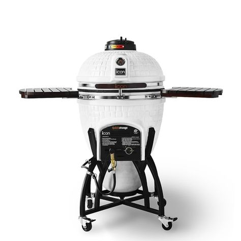 Icon Hybrid Kamado Grill Cottage White Kamado Grill Best Charcoal Grill Ceramic Grill