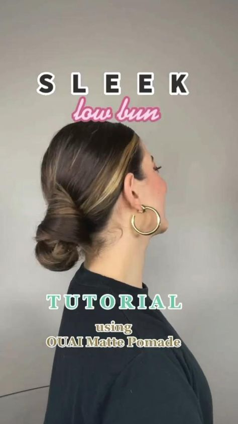 Slow sleek low bun ✨ how I quickly upgrade it in a minute with some quick tips 💁♀️