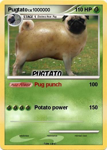 Pokemon Pugtato Pug Punch My Pokemon Card Pugs Pokemon Pugtato