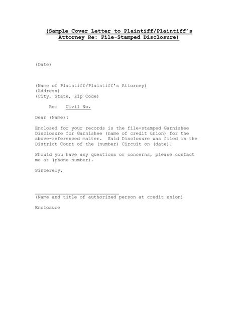 Cover Letter No Name