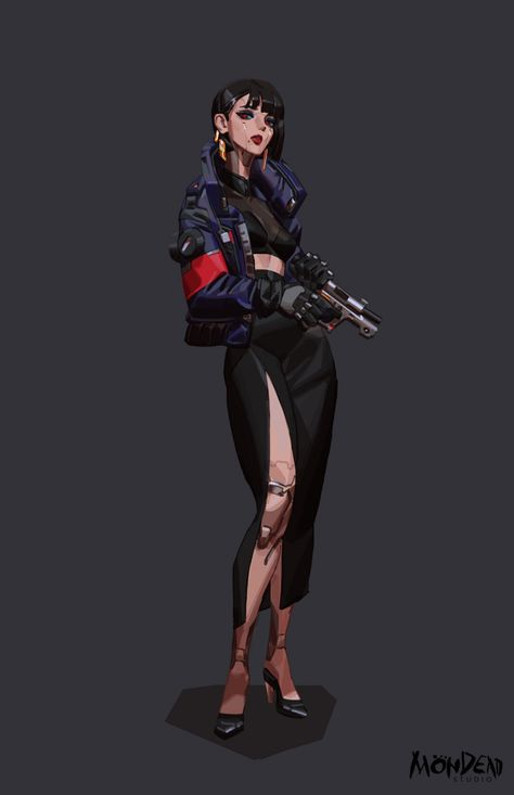 Mondead Studio project by Mondead Studio. Female Character Design, Character Design References, Character Design Inspiration, Character Concept, Character Art, Concept Art, Cyberpunk Kunst, Space Opera, Female Villains