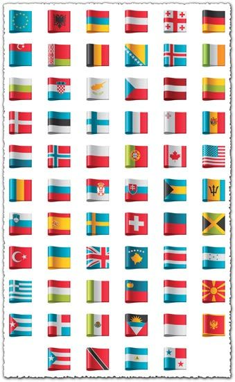 Country Flags As Vector Labels Flag Vector Vector Free Flag