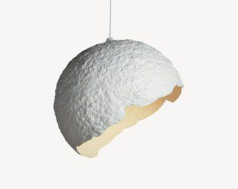 Eco Friendly Paper Mache Lamps And Eco Music Bags By Crearedesign Paper Lampshade Modern Hanging Lamp Hanging Lights