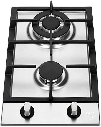 Best Seller K H 2 Burner 12 Natural Gas Stainless Steel Cast Iron Cooktop 2 Ssw Online Onlineshoppingoffers In 2020 Stainless Steel Cooktop Stainless Steel Casting Cooktop
