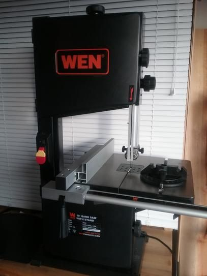 Wen 3 5 Amp 10 In 2 Speed Band Saw With Stand And Worklight 3962 The Home Depot Bandsaw Workbench With Storage Portable Band Saw