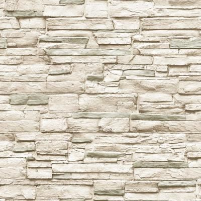 Tempaper Light Stone Ivory Vinyl Peelable Roll Covers 56 Sq Ft Hd630 The Home Depot Peel And Stick Wallpaper Wallpaper Peelable Wallpaper