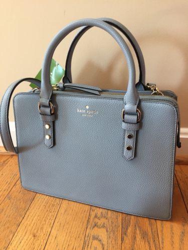5f88b8ba6f Kate Spade Lise Mulberry Street Bag Satchel handbag Lakes edge Blue Purse  NWT