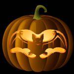 http://www.celebrating-halloween.com/pumpkincarving#Free_Transformers_&_Robot_Patterns_and_Templates_for_Pumpkin_Carving   )Spooky Patrón talla murciélago calabaza)