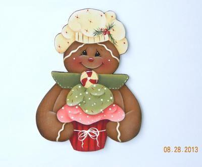 Cupcake gingerbread magnet