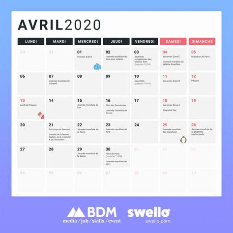 Calendrier marketing 2020 : la liste de tous les événements de l'année - BDM