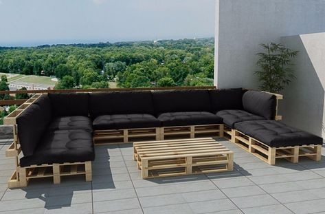 Ubaldi Salon De Jardin Balkon Mobilyalari Pallet Patio Bahce Verandasi