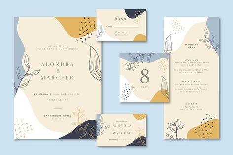 Свадебные канцтовары с приглашением и меню