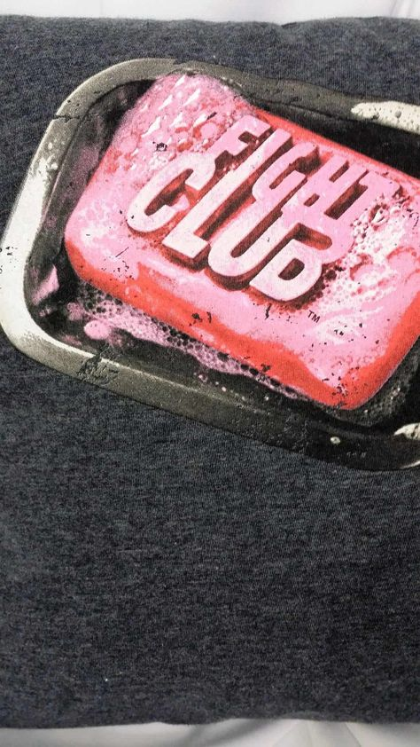 Fight Club bar soap tshirt made into a movie pillow cover.
