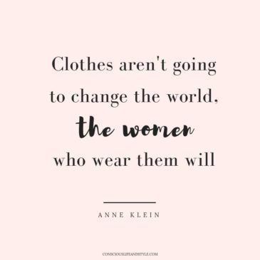Ethical clothing fashion quote