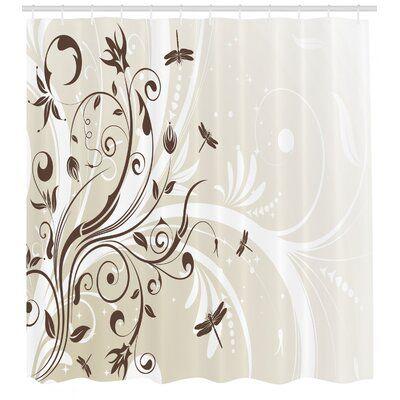 East Urban Home Ambesonne Dragonfly Shower Curtain Seasonal