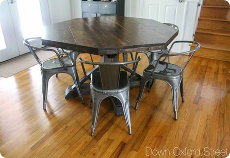 Octagon-Shaped Dining Room Table | Dining room table, Diy ...