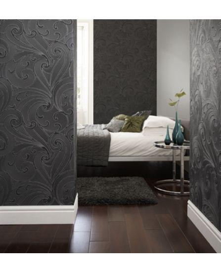 نتيجة بحث الصور عن ورق جدران ثلاثي الابعاد ايكيا Wallpaper Bedroom Contemporary Wallpaper Grey Wallpaper