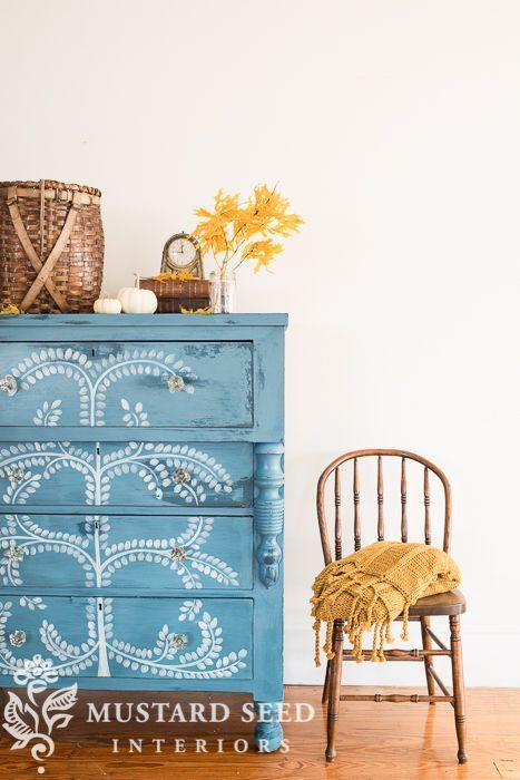 Hand Painted Empire Dresser Makeover With Images Furniture Makeover Furniture Diy Furniture