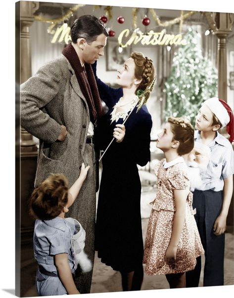 Large Solid-Faced Canvas Print Wall Art Print entitled It's A Wonderful Life, 1946