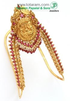 22K Gold Lakshmi Arm Vanki Temple Jewellery Totaram Jewelers