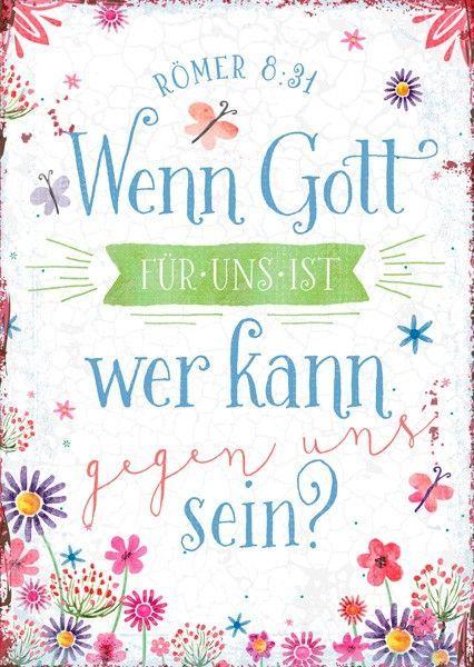 Postkarte - Gott ist für uns  #postkarte,