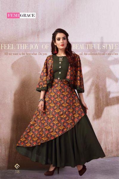 Femigrace Vol 3 By Madhuram Designer Wedding Fancy Kurtis