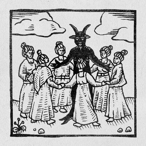 Engraving Illustration, Antique Illustration, Illustration Art, Medieval Tattoo, Medieval Drawings, Medieval Witch, Medieval Art, Sabbat, Witch Drawing