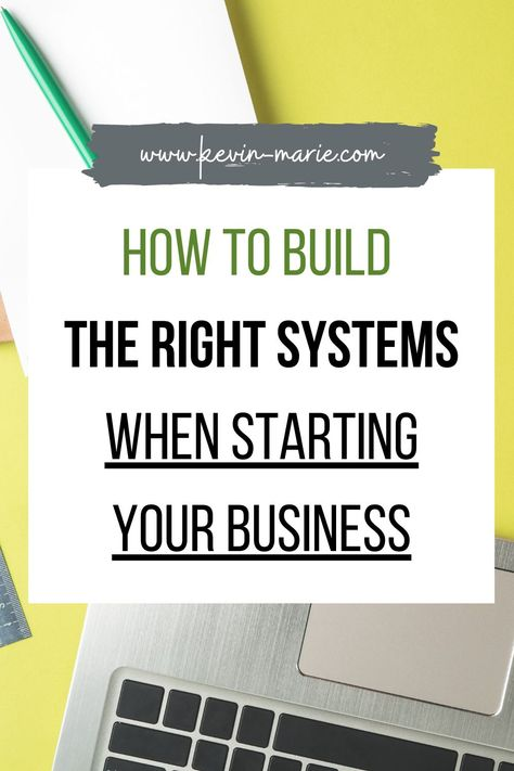 Learn how to build the right business systems right off the bat! Get my tips on how create streamlined and organized business systems. #BusinessOrganization #BusinessSystems