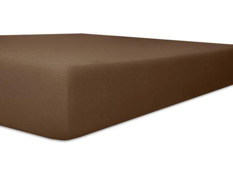 Kneer Spannbettlaken Vario Stretch Topper 140 200 Cm Braun