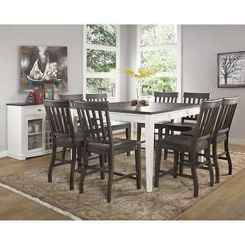 Lindstrom 10 Piece Counter Height Dining Set In 2020 Counter Height Dining Sets Dining Room Sets Dining Set