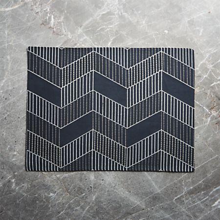 Lyricembroideredplacematshf17 Crate Barrel Linen Placemats Crates