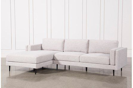 Mid Century Living Room With Aquarius Light Grey 2 Piece Sectional Living Spaces Sectional Grey Sectional Living Spaces Sectional