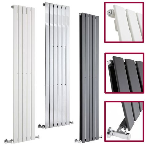 Vertical Central Heating Flat Panel Designer Radiators Tall Upright Columns