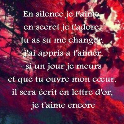 Je Taime Mon Amour Tu Me Manque Tellement Je Pense Très