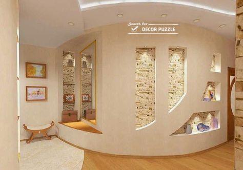 Living Room Wall Design Modern Pop Designs For Walls 2015