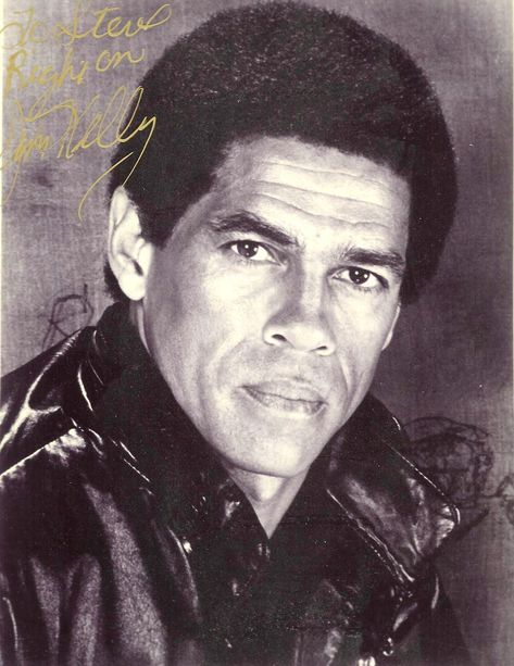 """Jim Kelly (b. May 5, 1946-d. June 29, 2013). Actor, 1970s martial arts icon. Best known for his role as """"Williams"""" in the film Enter the Dragon, Kelly was the first major African-American martial arts film star. Native of Millersburg, Bourbon County, KY."""
