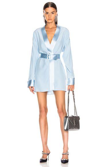 Cufflink Mini Wrap Dress Mini Wrap Dress Wrap Dress Designer Outfits Woman