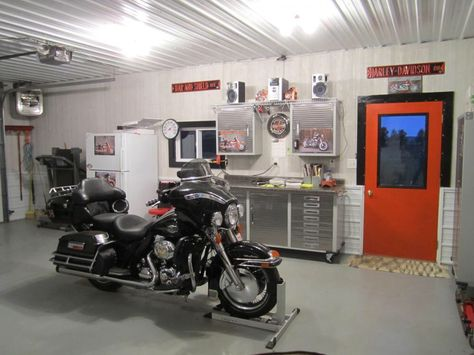 Motorcycle Man Cave Garage : Garage pics page adventure rider