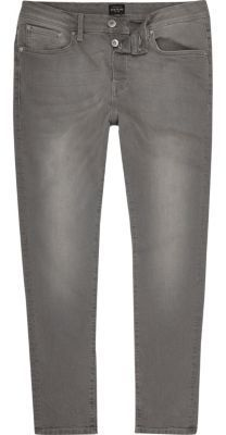 Mens black slim fit jeans river island