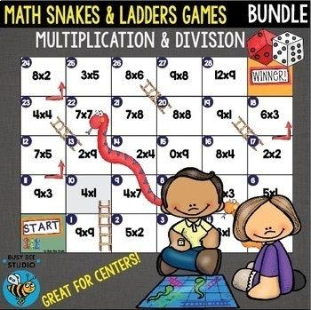 Multiplication And Division Games Bundle Snakes And Ladders