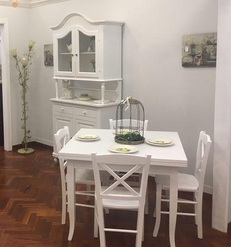 Tavolo Quadrato Allungabile Bianco.Occasione Imperdibile Credenza Con Alzata Cm 105x218 Tavolo