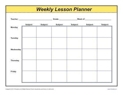 Monthly Lesson Plan Template Weekly Detailed Multi Class Lesson Plan Template Weekly Lesson Plan Template Blank Lesson Plan Template Lesson Planner