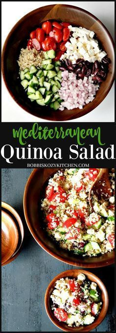 Mediterranean Quinoa Salad. A healthy meal planning idea. #mealplanning #mealplan  #quinoasalad #quinoasaladrecipes #healthyeating #mealprep