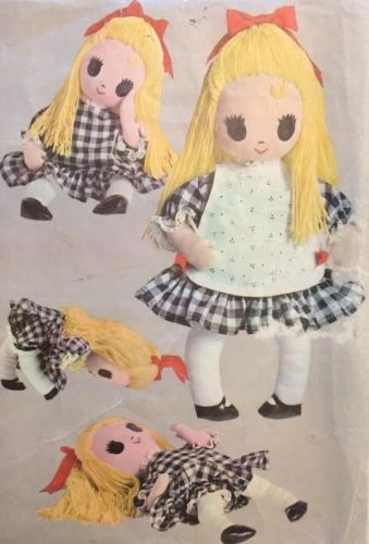 Vtg Mccalls 9362 Sewing Pattern 22 034 Big Eye Stuffed Rag Doll Clothes Apron Panty With Images Mccalls Sewing Patterns Doll Clothes Sewing Patterns
