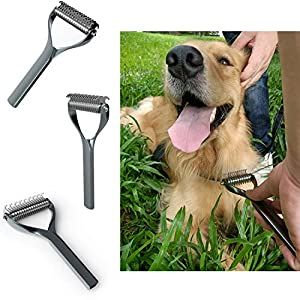 Yixi Dog Cat Pet Brush Stainless Steel Dog Dematting Comb With 2 Sided Professional Grooming Rakes Combs Tool For Cat Dog Professional Self Cleaning Slicker Br In 2020 Dog Cat Medium